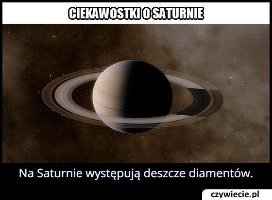 Jakie deszcze   występują na Saturnie?