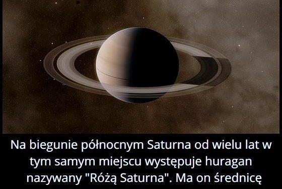 Jaką średnicę ma największy huragan na Saturnie?