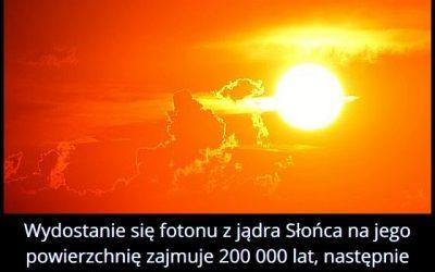 Ile czasu trwa   wydostanie się fotonu z jądra Słońca?