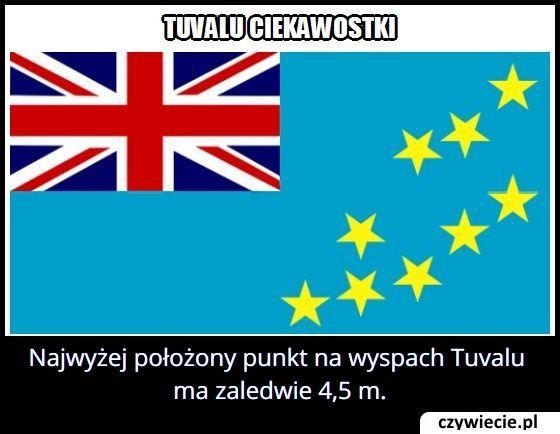 Ile metrów ma najwyższy szczyt Tuvalu?