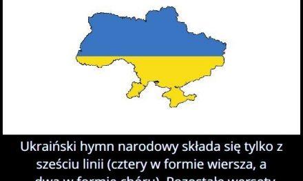 Z ilu wersów składa się ukraiński hymn narodowy?