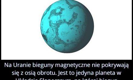 Na której planecie Układu Słonecznego biegun magnetyczny nie pokrywa się z osią obrotu?