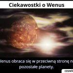 Czym różni się Wenus od innych planet Układu Słonecznego?