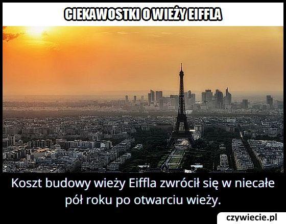 Po jakim czasie zwrócił się koszt budowy wieży Eiffla?
