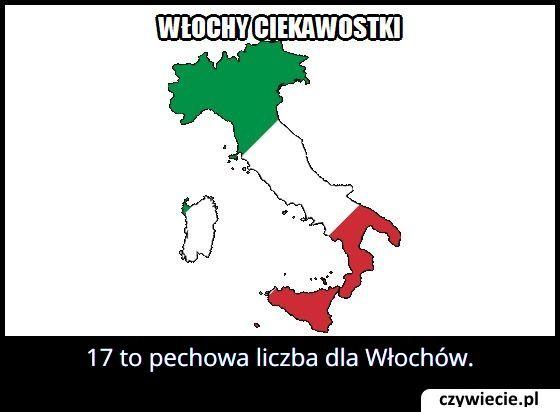 Jaka liczba we Włoszech uznawana jest za pechową?