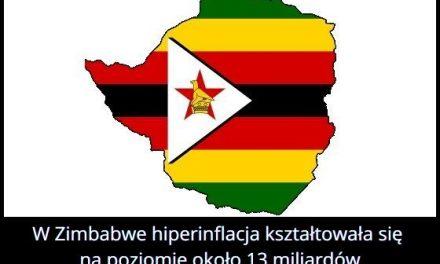 Jaki rekordowy poziom osiągnęła hiperinflacja w Zimbabwe?