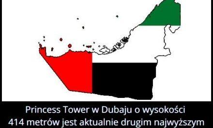 Ile metrów ma drugi najwyższy na świecie budynek mieszkalny – Princess Tower w Dubaju?